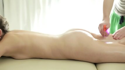 Lovely Brunette Gets Internal Massage - scene 2