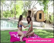 Teen Lesbians Strip For Pussy Licking Outdoor Sex Tape - scene 2