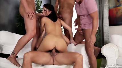 Orgy With Horny Brunette - scene 4