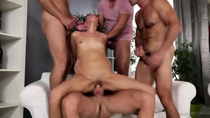 Orgy With Horny Brunette - scene 5