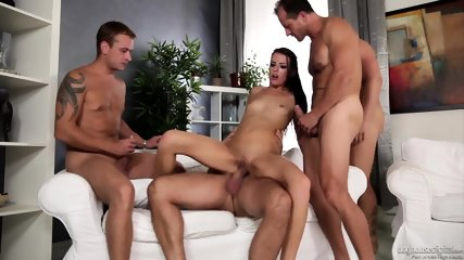 Orgy With Horny Brunette - scene 6