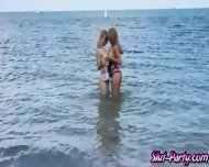 Dude Was Able To Fuck Lilli And Mia While On Cam At The Beach - scene 1