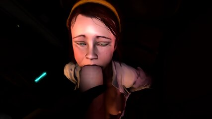 Isabela facialized by a 3D MONSTER