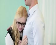 Young Blonde With Cum On Face - scene 1