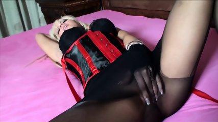 Slut With Stockings Takes Two Cocks - scene 2