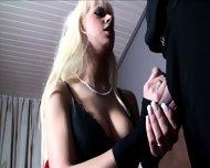 Slut With Stockings Takes Two Cocks - scene 4