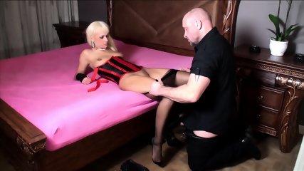 Slut With Stockings Takes Two Cocks - scene 7
