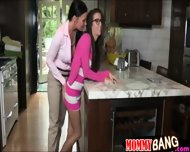 April Oneil And Vanilla Deville Threeway With Nasty Guy - scene 1