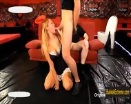 Cute German Nelly Benz Blows Four Cocks To Get Cum Facialized - scene 2