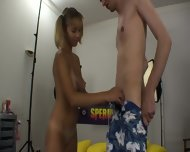 Blonde Teen Knows How To Use Dick - scene 1