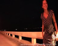 Naked On A Bridge With Big Boobs - scene 1