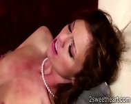 Superb Brunette Lezzies Pussy Gets Depply Licked By Gorgeous Blonde - scene 11