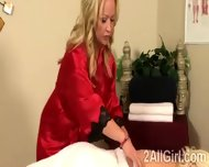 Big Stacked Lesbian Masseuse Must Please A Sweet Blonde Teen