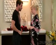 Beautiful Therapist Knows How To Make Her Clients Relax - scene 2