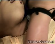 Brunette Nanny Splits Diapers Man With Her Huge Strapon - scene 6