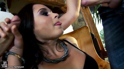 Hot Brunette Takes Care Of Two Dicks - scene 5