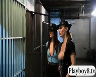 Two Horny Babes Foursome In The Jailcell With Nasty Men - scene 12