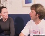 Horny Amateur Mom Gets Picked Up And Fucked On Camera - scene 2