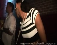 Up The Skirt Club Footage - Flashing In Bathroom - scene 4