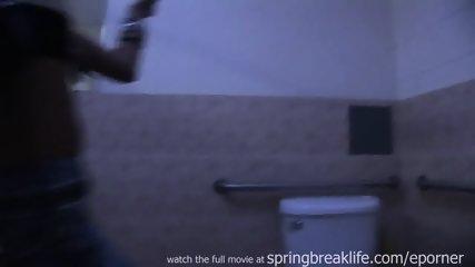 Up The Skirt Club Footage - Flashing In Bathroom - scene 7