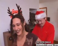 Dirty Santa Fucks His Reindeer Girl - scene 1