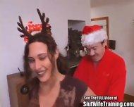 Dirty Santa Fucks His Reindeer Girl - scene 1