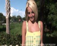 Naked Blonde In Public - scene 7