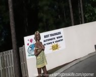 Hot Blonde Totally Naked In Public - scene 2