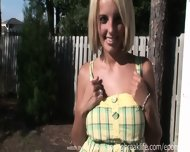 Hot Blonde Totally Naked In Public - scene 4