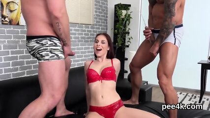 Fantastic peach gets her tight fuckbox absolute of warm piss and bursts