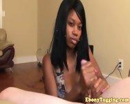Pierced Nubian Ebony Babe Strokes Cock - scene 2