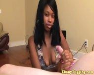 Pierced Nubian Ebony Babe Strokes Cock - scene 3