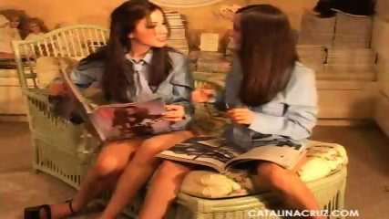 Catalina Cruz and Vivianna - Lesbian Reunion - scene 1