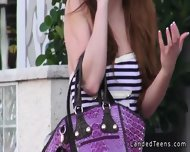 Redhead Teen Hitchhiker Bangs Stranger Outdoor - scene 2