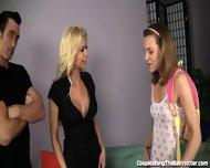 Kinky Couple Seduces Sweet Teen Babysitter - scene 1