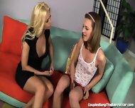 Kinky Couple Seduces Sweet Teen Babysitter - scene 2