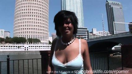 Hot Brunette Naked In Public - scene 8