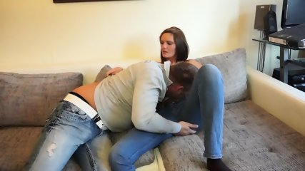 Couple In Action On Couch - scene 2