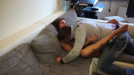 Couple In Action On Couch - scene 4