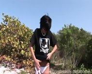 Hot Brunette Flashing Aroung Town - scene 11