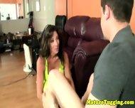 Busty Cougar Jerking Dick In Pov - scene 2