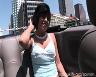 Great Tits Flashing In Convertible - scene 2