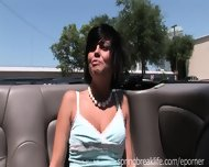Great Tits Flashing In Convertible - scene 5