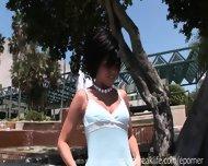 Emo Chick Flashing Downtown - scene 3