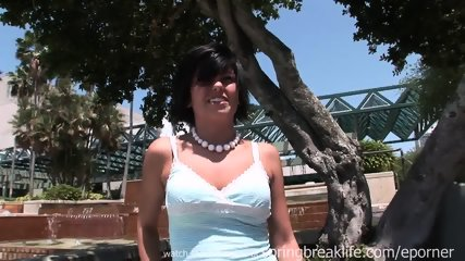 Emo Chick Flashing Downtown - scene 6