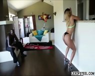 Black Chick Splits Her Legs As She Gets Porks By A Thick Man Meat - scene 3