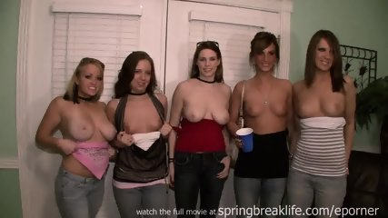 5 Girls Flashing South Padre - scene 1