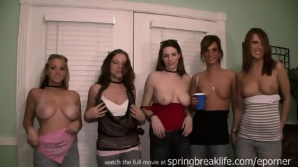 5 Girls Flashing South Padre - scene 3