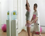 Acrobatic Sex During Joga With Casual Teen - scene 2