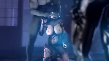 Beautiful Fantasy Elf Queen caught and monster drilled